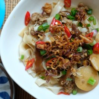 阿公版蔥油拌麵 Ah Gong Style Noodles with Crispy Fried Shallots