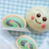 雲朵彩虹饅頭 Cloud & Rainbow Buns